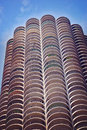 Marina Tower on sunny day in  Chicago, Illinois. Royalty Free Stock Photo
