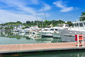 Marina yacht docking of pleasure luxurious at Stock Photos