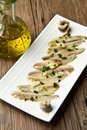 Marinated anchovies Stock Photo