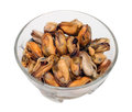 Marinated mussel isolated