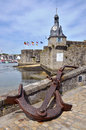 Marine anchor at Ville Close of Concarneau in France Stock Photography