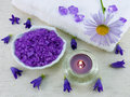 Marine bath salt for an aromatherapy Royalty Free Stock Photo