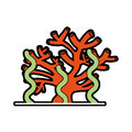 Marine coral sealife icon