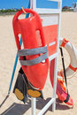 Marine Equipment lifeguard at the beach. Stock Photography