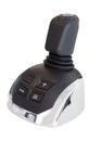 Marine joystick, or shifter, isolated on white background Royalty Free Stock Photo