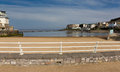 Marine lake weston super mare somerset england uk and knightstone island the best family beach in s Stock Photos