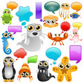 Marine life cartoon character Stock Images