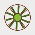Marine propeller fan vector wind ventilator equipment ship blower cooler rotation technology power circle.
