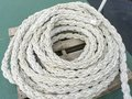 Marine rope on board old sailing vessel Stock Image