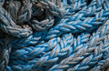 Marine ropes background for texture nylon nautical twisted on a roll Royalty Free Stock Photos