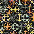 Marine seamless pattern vector illustration Royalty Free Stock Photos