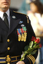 Marine, Soilder decorated in full dress with medals Royalty Free Stock Photo