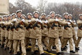Marine soldiers in formation Stock Photo