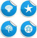 Marine stickers. Royalty Free Stock Photos