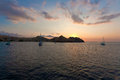 Marine sunset, Komodo Royalty Free Stock Photo