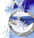 Marine table setting Stock Image