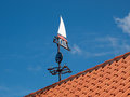 Marine weather vane traditional in a marina port Royalty Free Stock Photo