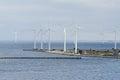 Marine wind farm at Copenhagen Royalty Free Stock Photo