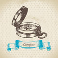 Mariners compass. Hand drawn illustration Royalty Free Stock Photography
