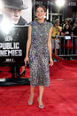 Marion cotillard public enemy arriving at the enemies premiere at the mann s village theater in westwood ca on june Royalty Free Stock Photos