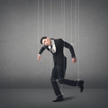 Marionette concept asian business man Royalty Free Stock Images