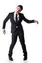 Marionette pose asian business man isolated on white Royalty Free Stock Image