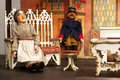 Marionette theater for children Royalty Free Stock Photo