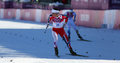 Marit bjoergen sochi russia � february wins in ladies skiathlon km classic km free of sochi xxii olympic winter games Stock Photography