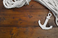 Maritime anchor decoration cruise lifeline Royalty Free Stock Photos