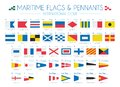 Maritime Flags and pennants International Code Vector Illustration Royalty Free Stock Photo