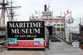 Maritime Museum of San Diego Royalty Free Stock Photo