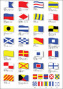 Maritime signal flags with phonetic alphabet
