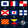 Maritime signal flags S-Z Royalty Free Stock Photo