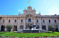 The maritime station of genoa italy Royalty Free Stock Photo