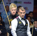 Mark davis beat neil robertson bangkok thailand sep in the final to win the sangsom six red world championship at montien Royalty Free Stock Photos