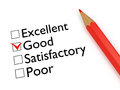 Mark Good: evaluation form and pencil Royalty Free Stock Photo