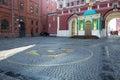 Mark kilometre Zero of the roads of the Russian Federation. Royalty Free Stock Photo