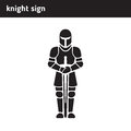 Mark knight in armor with sword