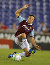 Mark noble of west ham united in action during a friendly match against rcd espanyol at the estadi cornella on september in Royalty Free Stock Image