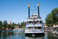 Mark twain riverboat at disneyland california the anaheim on a scenic journey around the rivers of america this attraction has Stock Image