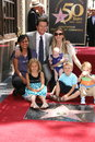 Mark wahlberg rhea durham with wife and children ella grace and michael at s star ceremony on the hollywood walk of Royalty Free Stock Photo