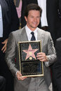 Mark wahlberg at s star ceremony on the hollywood walk of fame hollywood ca Royalty Free Stock Image