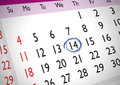 Marked date on an english generic calendar Stock Photo