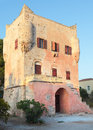 Markellos Tower in Aegina Stock Images