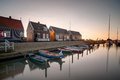 Marken Island Port At Sunset