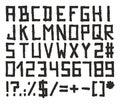 Marker Alphabet Block Style Royalty Free Stock Photo