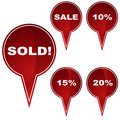 Marker Button Set - Sold Royalty Free Stock Photo