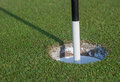 Marker in Golf Hole Royalty Free Stock Photo