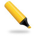 Marker illustration this is a simple yellow Stock Image