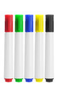 Marker pens row of on white background Royalty Free Stock Photography